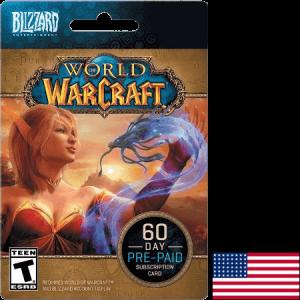 Blizzard World of Warcraft USA 60 Day