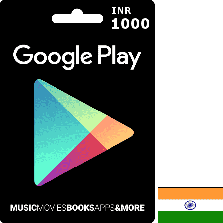 Google Play IN INR 1000