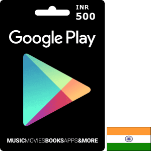 Google Play IN INR 500