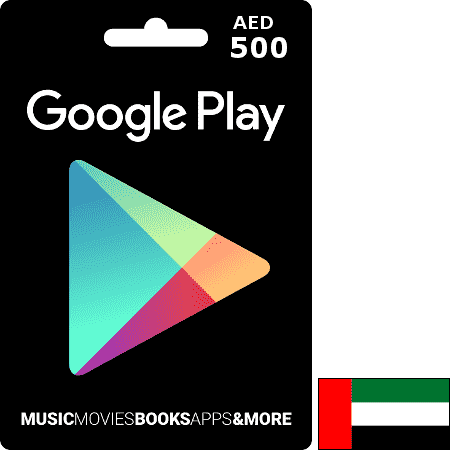 Google Play UAE AED 500