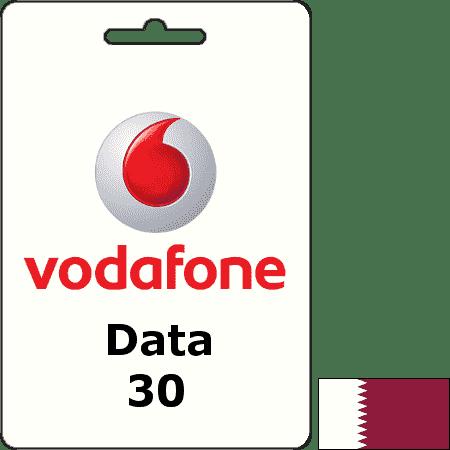 Vodafone Qatar Data QAR 30