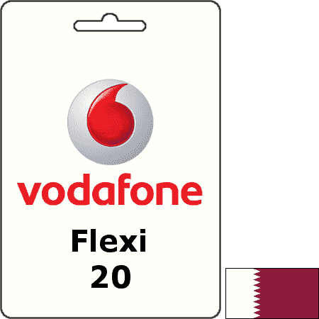 Vodafone Qatar Flexi QAR 20